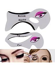 MultiWare Eyeliner Stencil Tool Rapide et Facile Smokey Eyeliner Cat Guide Pochoir 2 Pcs