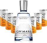 Gin Tonic Set - Gin Mare Mediterranean Gin 0,5l (42,7% Vol) + 6x 1724 Tonic Water 200ml Dosen inkl. Pfand EINWEG -[Enthält Sulfite]