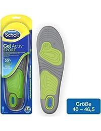 Scholl GelActiv Einlegesohlen Sport (für Sportschuhe von 40-46,5 – 30% Stoßdämpfung und Entlastung der Gelenke, selbstklebende Gelsohlen) 1 Paar