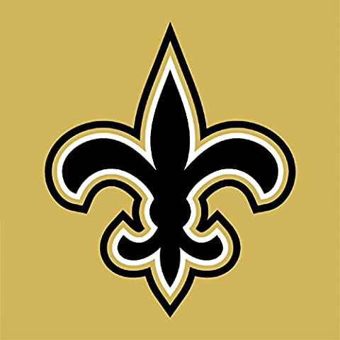 NEW ORLEANS SAINTS NFL de football américain mur Sticker mural adhésif en vinyle Art 60 cm x 60 cm Grand (600 x 600 mm)