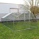 Recinto in metallo mt 6 x 3 x 2h pollaio recinzione per polli e piccoli animali domestici