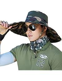 WENZHE Verano Gorros para el sol Pamelas Sombrero De Playa Hombre Disquete  Plegable Empacable Con Protección 16b9bcc7085f