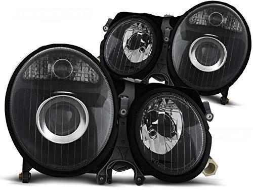 Scheinwerfer Set W210 E-Kl. BJ 06.99-03.02 Klarglas/Schwarz