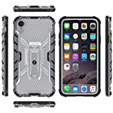 Xmate Urban Transparent Armor Case Hard Cover with Stand for iPhone XR (White)