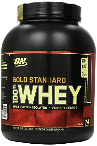 Optimum Nutrition 100% Whey Gold Standard - 5 lbs (Shaker Free) (Double Rich Chocolate)