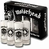 Motörhead SGMH1 Schnapsgläser, Glas, transparent, 4 x 4 x 10.5 cm