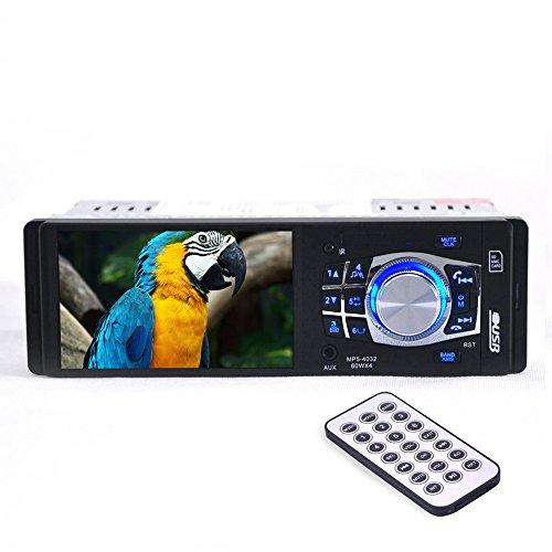 FAVOLCANO-Autoradio-Bluetooth-Stereo-FM-Freispecheinrichtung-mit-41-Zoll-hochlsendem-Bildschirm-Rckfahrkamera-vorrangig-untersttzt-Aux-TF-Karte-USB-Stick-Ladegert-Single-Din