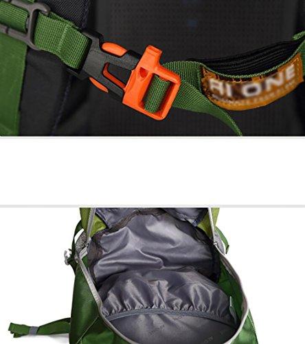 HWLXBB Outdoor Bergsteigen Paket Männer und Frauen 35L Wasserdichte Mehrzweck-Bergsteigen Tasche Wandern Camping Bergsteigen Rucksack 1*
