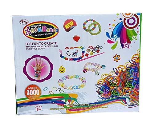 TW Webrahmen Set 6000 TLG Loom Bänder Gummibänder Charms Anhänger S-Clips (Bands Loom 6000)