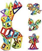 Innoo Tech Bloc de Construction Magnétique Enfant 108 Pièces, Mini Jeux Construction Aimanté Jouet Educatif et Créatif, Cadeau Anniversaire Fête pour Les Petits