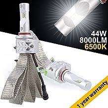 GreenClick H7 LED Bombillas para faros delanteros de automóvil Philip-ZES rebordea 44W 8000LM LED Kit de conversión para faros delanteros reemplazar para halógenos