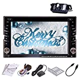 Free rearview Camera 6.2 Inch Double 2 din gps car cd dvd player