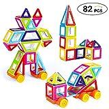 Theefun Magnetische Bausteine 82 Teiliger Bausatz Enthält Riesenrad Büchlein Ideales Spielzeug als Geschenk für Kinder