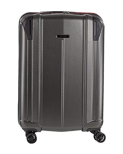 NOWI Vacation L ABS Hartschale Trolley Reisekoffer Gepäck TSA Schloss 4 Doppel-Rollen 55l Volumen (anthrazit)