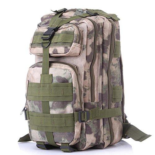 Pizz Annu-Outdoor Tactical Rucksack Sport Camouflage Tasche für Camping Reisen Wandern Trekking Ruins camouflage