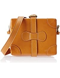 Hidesign Small Boxy Women's Sling Bag (Honey)
