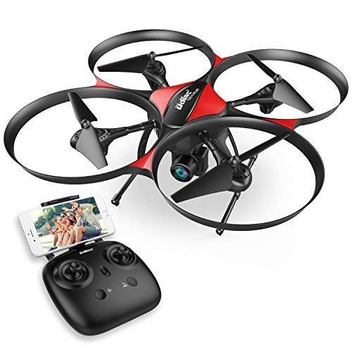 DROCON – Drone TRAVELER / U818A Plus con FPV e Aggiornato con Mantenimento Quota – Telecamera HD 720P con Grandangolare a 120° e Funzione Antivibrazione – Quadrirotore RC con 15 Minuti Durata Volo