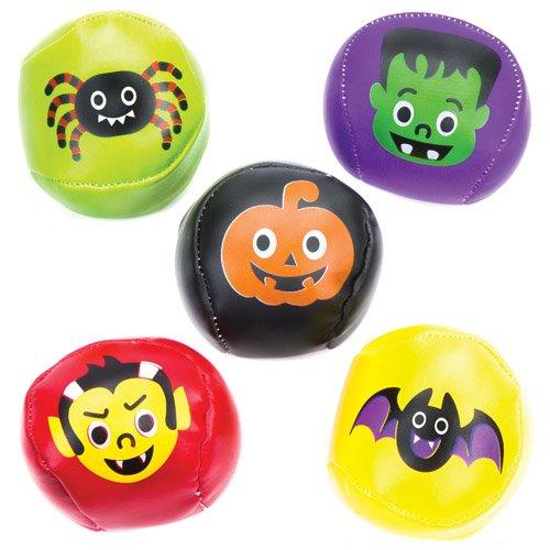 bälle mit Halloween-Motiven als lustiges Spielzeug für Kinder zum günstigen Preis - perfekt als kleine Party-Überraschung für Kinder zu Halloween (5 Stück) ()