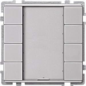 Merten System Fläche 4Fil Plus 628360Bouton interrupteur avec 4boutons en aluminium