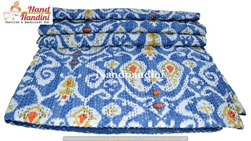 Indische handgemachte böhmische König Größe Bettwäsche Winter Quilt Couch Decke Bett decken Zimmer Sofa Bett Kantha Decke Decke Teppich handgemachte Kantha Quilt (220 X 270) CMS (Couch Quilt)