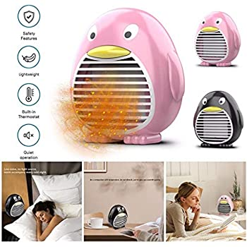 Sayla Space Heater Portable Electric Heaters for Indoor Use 4 Inch Mini Two-Gear Adjustment Heat,Carbon Fiber Tube Heating,Personal Small Warmer for Dormitory,Office,Desktop,Home,Bathroom