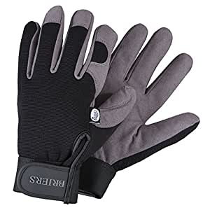 Briers Profi-Handschuhe, grau/schwarz, mittel