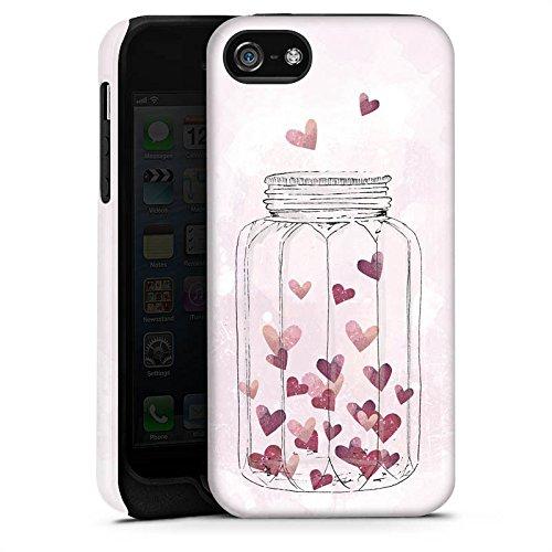 Apple iPhone X Silikon Hülle Case Schutzhülle Herzen Liebe Grafik Tough Case matt