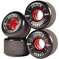 JUCKER HAWAII Ruedas para Longboard / Skateboard / Mini Cruiser Slide Wheels MINI BALLS 60mm 80A Negro