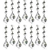 HaoHaiYoo K9 Kristallanhänger, super klare Glasperlen, Kronleuchter Türen & Fenster, Hochzeit, Party, Festival, glitzernd, Kristallornament, 10 Stück, durchsichtig, Maple Crystal