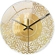 ساعة حائط رمضان 30 × 30 سم ساعة حائط مبتكرة من الأكريليك الإسلامي ساعة حائط عصرية ثلاثية الأبعاد مع قرص بلغة ع