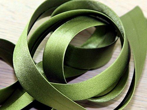 20mm Prym Duchesse Satin Schrägband Oliv–Pro 30m Rolle + Gratis Minerva Crafts Craft Guide