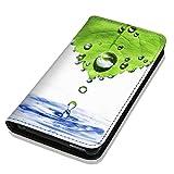 Hülle Galaxy J1 2016 Hülle Samsung J1 J120 Schutzhülle Handyhülle Flip Cover Case Samsung Galaxy J1 2016 J120 (OM1016 Abstract Grün Blau Weiß)
