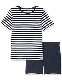 NAME IT Jungen Zweiteiliger Schlafanzug Nkmnightset Dress Blues Ss Shorts