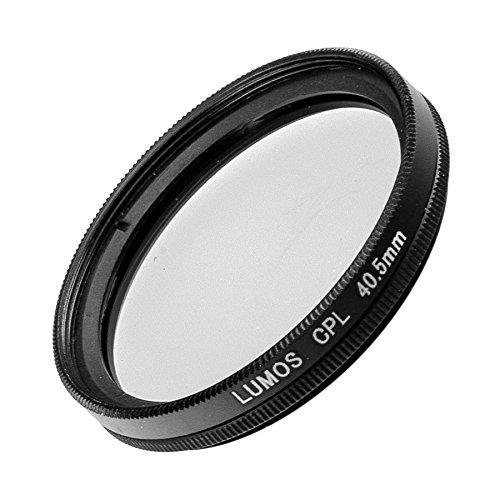 LUMOS Polfilter zirkular 40,5mm Slim | Kamera Objektiv CPL Pol Filter Polarisationsfilter | optisches Glas schmale Metallfassung Frontgewinde 40.5 mm für Sony Nikon (Kamera Slim Sony)