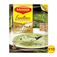 Maggi Excellence Cream of Spinach Soup Sachet, 49g  Pack of 10