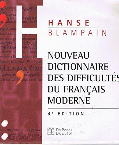 Nouveau dictionnaire des difficultés du français moderne. Avec CD-ROM