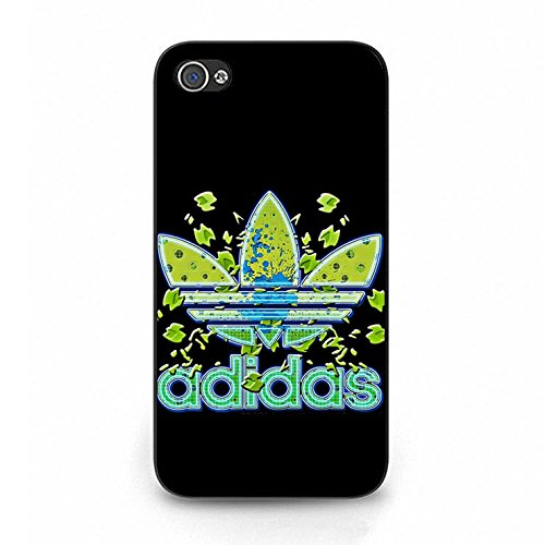 Hot Sell Black Background Adidas Logo Phone Case Cover for Iphone 5/5s Colour511