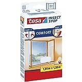 tesa Fliegengitter für Fenster, beste tesa Qualität, weiß, leichter Sichtschutz (2er Pack, 1.30 m x 1.30 m)