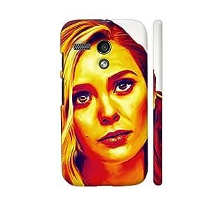 Colorpur Elisabeth Olsen Designer Mobile Phone Case Back Cover For Motorola Moto G1 | Artist: Divakar Vikramjeet Singh