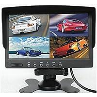 BW DC12V-24V 7inch 4Split Quad Schermo LCD Display a colori retrovisore Monitor auto per Auto e camion bus telecamera di