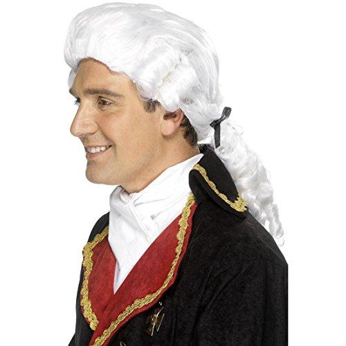 uis Richterperücke Edelmann Herrenperücke Baron Kostüm Zubehör (Perücke Richter)