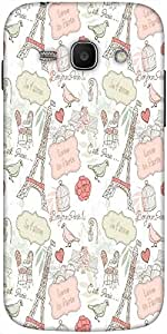 Snoogg Love In Paris Solid Snap On - Back Cover All Around Protection For Sam...