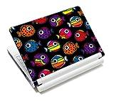 Luxburg® Design Aufkleber Schutzfolie Skin Sticker für Notebook Laptop 10 / 12 / 13 / 14 / 15 Zoll, Motiv: Bunte Fische
