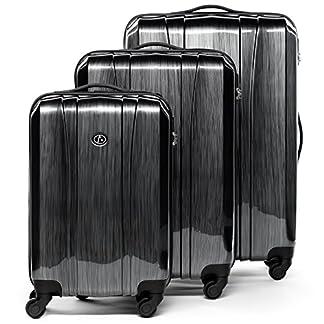 FERG-Koffer-Kofferset-Hartschale-Handgepck-55-cm-L-XL-Trolley-Set-4-Rollen