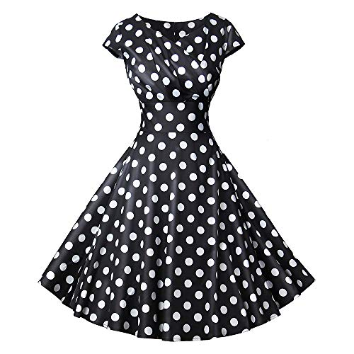 Fasching Kostüm Damen Rockabilly - Vectry 1950er Vintage Retro Cocktailkleid Rockabilly