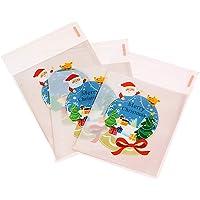 Hosaire 100Pcs Sacs à Bonbons Sac Sachet Mignons Père Noël Pochette Sachet pour Bonbon Biscuit Chocolat Friandise…