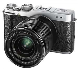 Fujifilm X-M1 kompakte Systemkamera (16 Megapixel, 7,6 cm (3 Zoll) LCD-Display, Full HD, WiFi) inkl. XC 16 - 50mm F3.5-5.6 OIS Objektiv silber