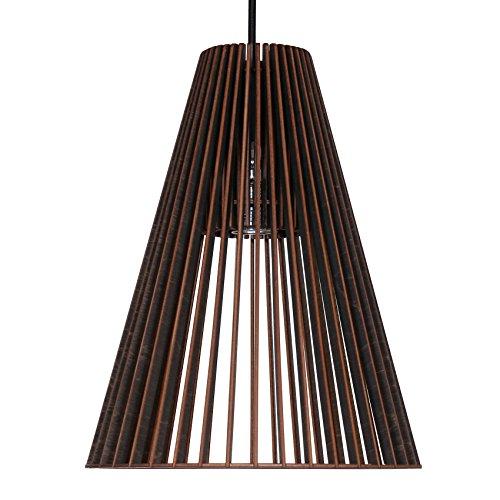 Suspension Cono en bois - Plafonnier design moderne - 8 couleurs disponibles -, noir, E27 60.0 wattsW