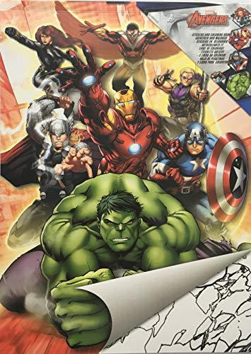 Malblock & Sticker Din A 4 mit Marvel