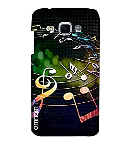 Omnam Musical Lovers Strings Printed Designer Back Cover Case For Samsung Galaxy J3